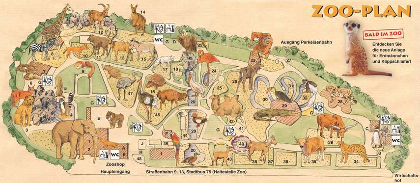 Dresden ZOO plan
